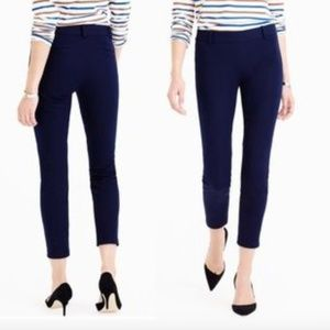 J Crew Minnie Pants Crop Navy Blue